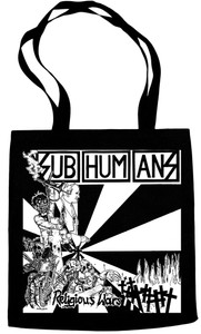 Subhumans Religious Wars Tote Bag