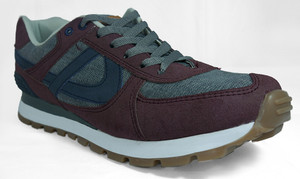 Panam - Burgundy and Blue Crosstrainer Unisex Sneaker