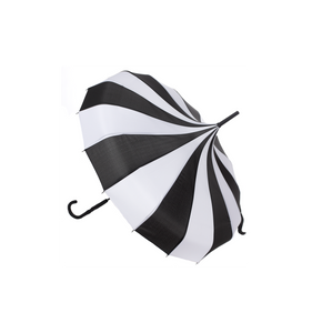 Sourpuss - Black and White Pagoda Umbrella