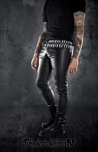 Black Wax Skin Goth Mens Pants