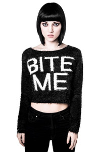 Bite Me Crop Sweater
