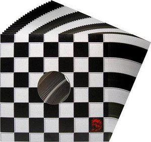 "12"" Checkered Ska print Carton Records Jackets Sleeves 5 package"