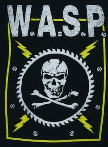 W.A.S.P. Skull Backpatch Misprint