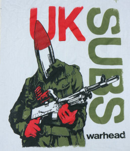 UK Subs Warhead Backpatch Misprint