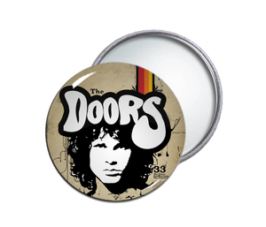 The Doors - Jim Morrison Face Round Pocket Mirror