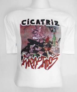 Cicatriz White Misprinted T-Shirt Size Large
