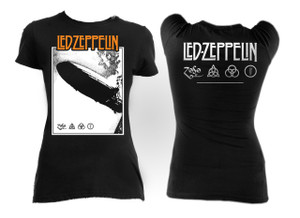 Led Zeppelin Blimp Girls T-Shirt