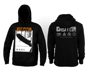 Led Zeppelin Blimp Hooded Sweatshirt