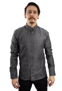 Fango Clothing - Grey Long Sleeve Minimalist Button Up Shirt