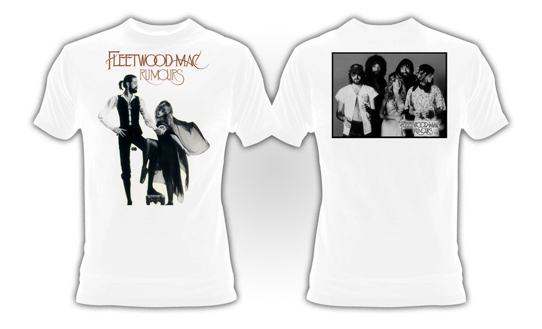 Fleetwood Mac T Shirt-Rumours 100/% Officiel Noir VERSION 100/% coton biologique
