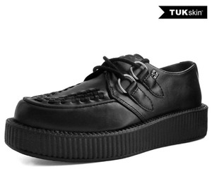 T.U.K. Shoes - V9321 Black TUKskin™ Viva Low Creepers