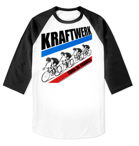 Kraftwerk Tour De France Raglan Baseball 3/4 Sleeve T-Shirt