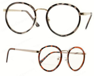 Tortoise Shell Round Glasses - April Clear