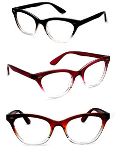 Clear Ombre Classic CatEye Glasses