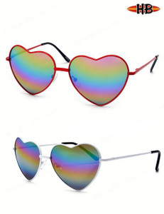Rainbow Heart Shaped Sunglasses