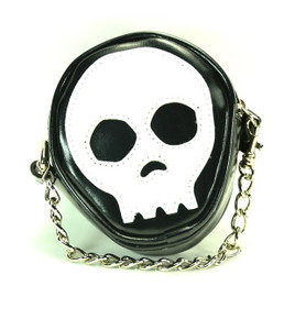 Vegan Leather Skull Face Purse