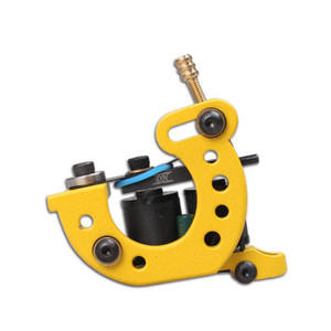 Custom Yellow Lining Tattoo Machine