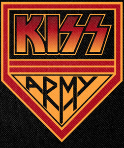 """Kiss Army Crest 11x14"""" Backpatch"""