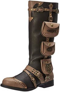 Silas Multi Pocket Steampunk Womens Boots by Ellie Shoes