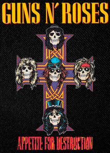 "Guns N' Roses Cross Logo 3x5.5"" Color Patch"