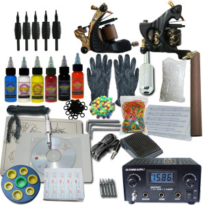 Tattoo Kit Two Premium Machine with Case plus Ink kit