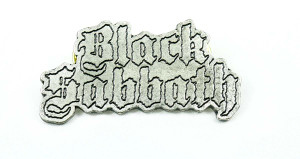 "Black Sabbath Logo 2 .98x.98"" Metal Badge Pin"