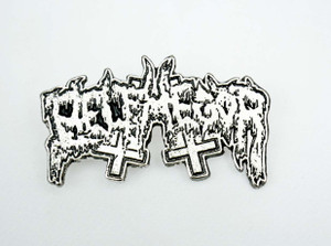 "Belphegor Logo 1.7x1.18"" Metal Badge Pin"