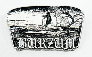 "Burzum Monk 1.7x.9"" Metal Badge Pin"