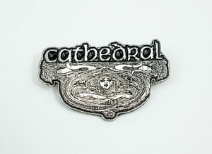"Cathedral Logo 2x1.5"" Metal Badge Pin"