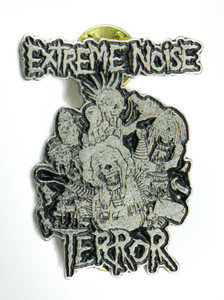 "Extreme Noise Terror 1 1/4x1 3/4"" Metal Badge Pin"