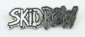 "Skid Row Logo 2x1/2"" Metal Badge Pin"