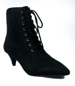 Women's Lace Up Witchy  Vegan Boot
