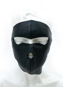 Black Leather Tactical Mask