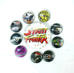 10 Piece Pin Lot - Street Fighter, Riistetyt, Metalucifer + More!