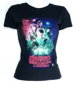 Stranger Things Collage Misprinted Girls T-Shirt