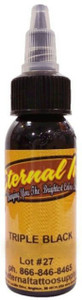 Eternal ink 1oz Tattoo Ink Bottle Triple Black