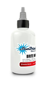 Starbrite Colors - Brite White 1oz Tattoo Ink Bottle