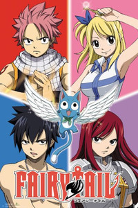 "Fairy Tail Quad 24x36"" Poster"