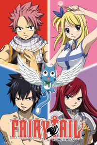 "Fairy Tail Quad 24x36"" Poster"