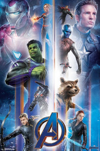 "Avengers Endgame Montage 24x36"" Poster"