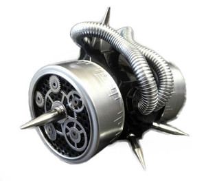 Silver Respirator with Cogs
