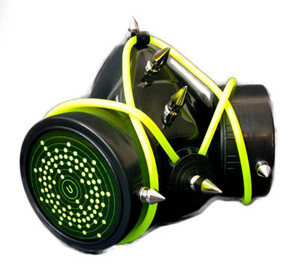 Black and Neon Green Respirator