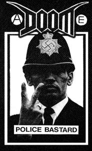 "Doom Police Bastard 11x18.5"" Backpatch"