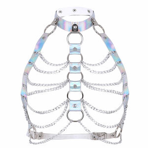 """Iridescent """"O"""" Ring and Chain Harness"""