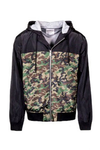 WJ Shaka Wear Camouflage Windbreaker Jacket