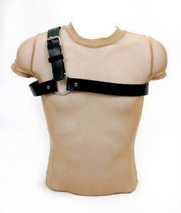 Road Warrior - Men's One Shoulder Leather Harness