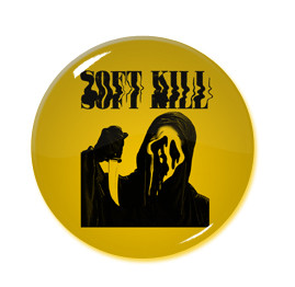 "Soft Kill Ghost Face 1.5"" Pin"