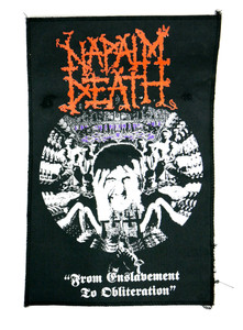 Napalm Death From Enslavement Canvas Test Backpatch