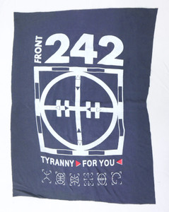 Front 242 Tyranny for You Grey Test Backpatch