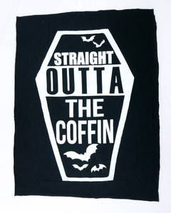 Straight Outta the Coffin Test Backpatch
